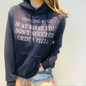 Wildfox pizza sweatshirt